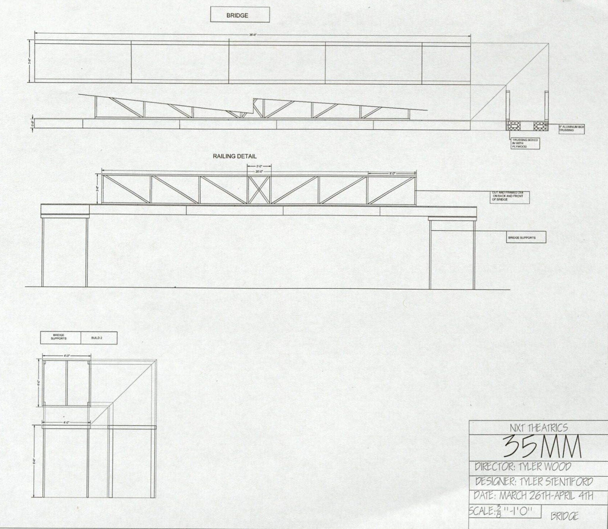 35 MM; Construction Plans
